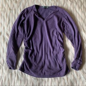 Title Nine V-Neck Ruched Side Pullover